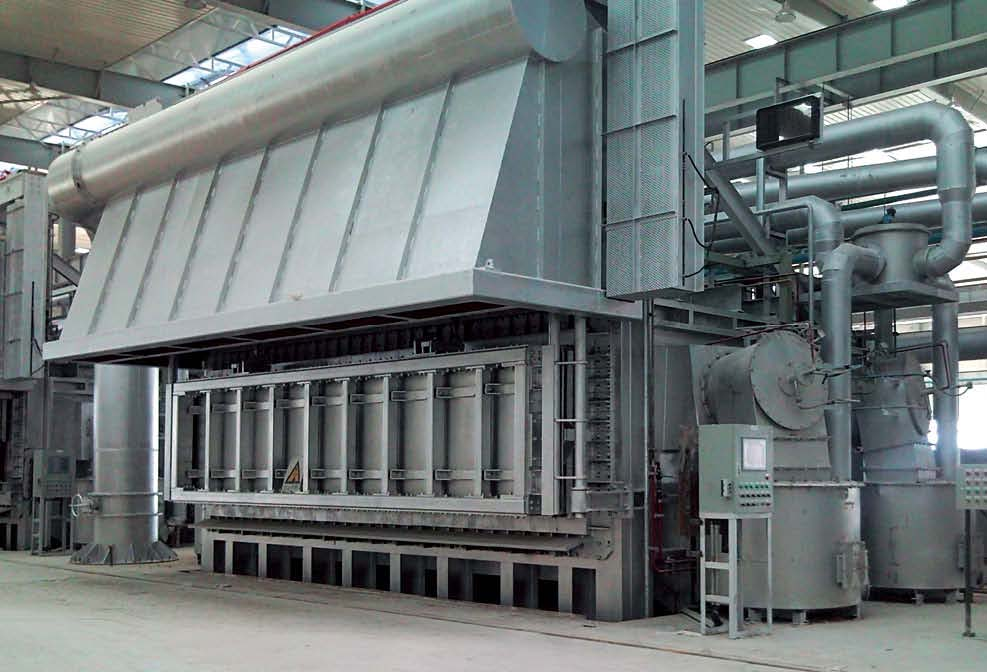 Stationary type vertical door melting furnace